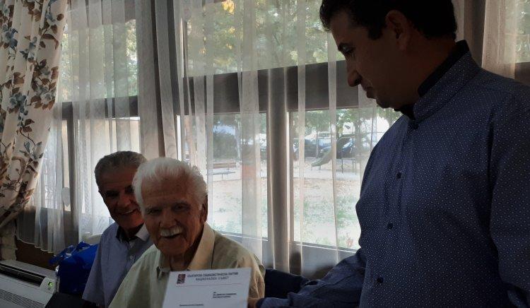 НС на БСП поздрави другаря Димитър Герджиков за 100-годишния му юбилей